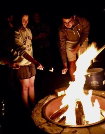 Retreat campfire